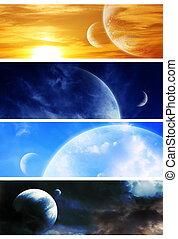 Collection space banners - Collection - four horizontal ...