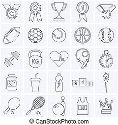 collection., sporten, pictogram