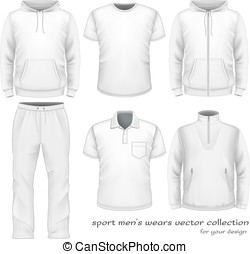 collection., sportende, slijtage, mannen