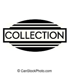 COLLECTION stamp on white