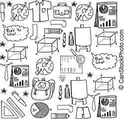 Collection stock doodles school education