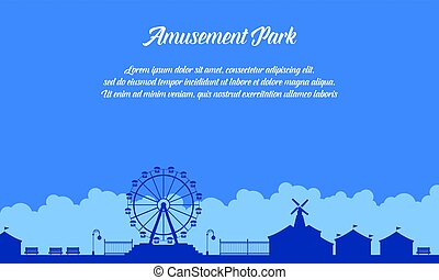 Collection stock of amusement park scenery