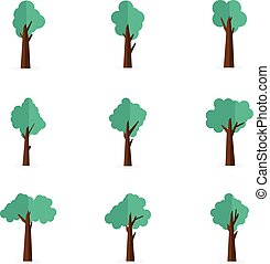 Collection stock of tree vector
