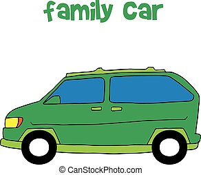 Collection style of family car