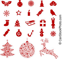 Christmas Icons And Elements