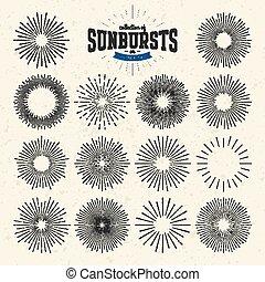 collection, sunbursts