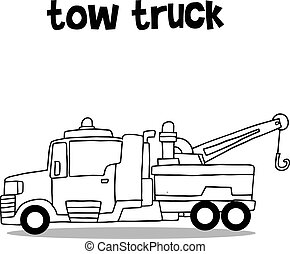 Collection transportation of tow truck