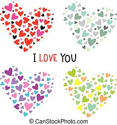 Collection vector hearts for your design