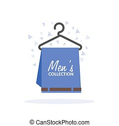 collection., vector, kleding, omzet, mens