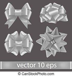 collection., vektor, íj