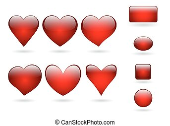 Collection volume icon hearts - Set of hearts icons with...