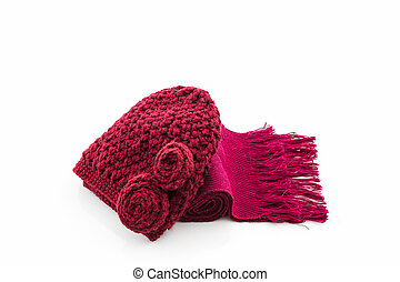 Colorful of scarf and hat.