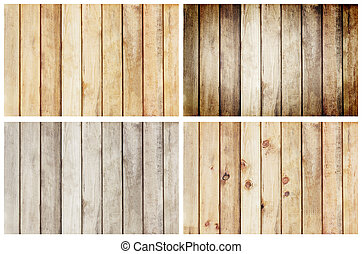 collection wooden plank wall texture background, set 4