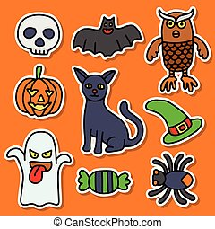 Collections Halloween Sticker good for your Print design