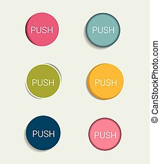 Collections of infographics flat design buttons, elements.