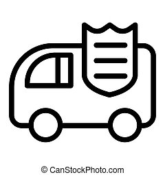 Collector car line icon. Bank car vector illustration isolated on white. Finance transportation outline style design, designed for web and app. Eps 10.