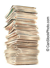 collector cards - a piled up tall stack of collector\\\'s...