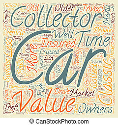 Collector Cars Are Fun To Own Drive And Invest In text background wordcloud concept