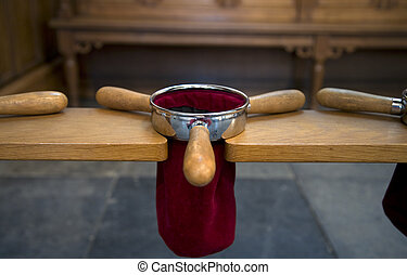 Collector pockets of a Dutch church
