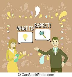 collega, partners, wat, zakelijk, zoekend, solution., foto, het tonen, achting, over, jointly, schrijvende , aantekening, showcasing, waarschijnlijk, vragen, iets, expect., happen, geschieden, probleem