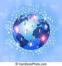 collegamenti, concetto, globale