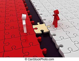 collegamenti, concezione, affari