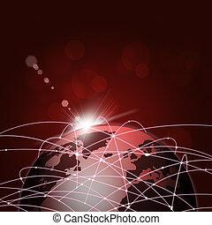 collegamenti, mondo, internet