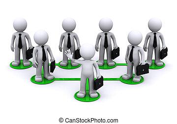 collegamento, concetto, rete, affari