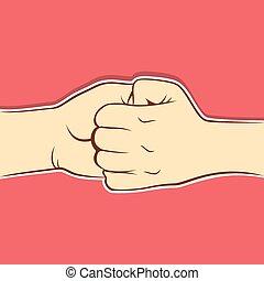 collegamento, disegno, fare, unire, mano
