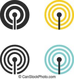 collegamento fili, icone