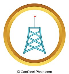 collegamento fili, vettore, torre, icona