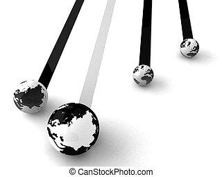 collegamento, globo, rete