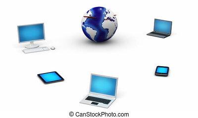 collegamento internet, concetto