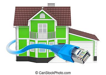 Lan cavo cable reso illustration isolato rj45 for Concetto casa com