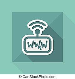collegamento, modem, internet
