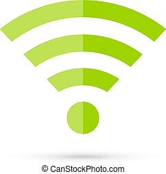 collegamento, vettore, icona internet