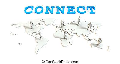 collegare, affari globali