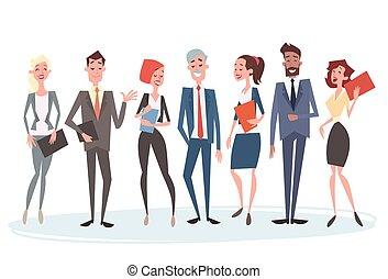 collega's, groep, zakenlui, menselijk, team, middelen