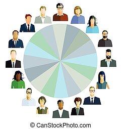 collega's, personeel, team