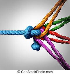 collegato, concetto, gruppo
