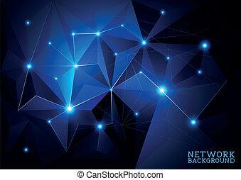collegato, rete, fondo