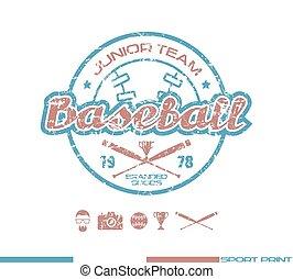 College baseball team emblem