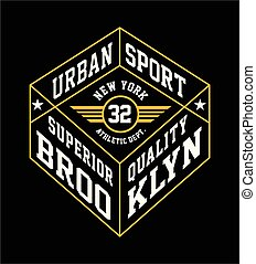 College Brooklyn typography t-shirt graphics