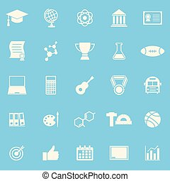 College color icons on blue background