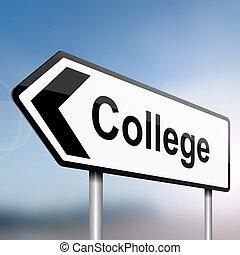 College concept.