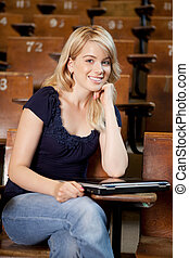 College Girl with Laptop