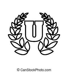 college laurel logo  , vector