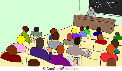 College Lecture - college lecture hall