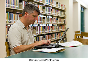 College Library Laptop
