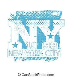 College New York typography, t-shirt graphics, vectors.